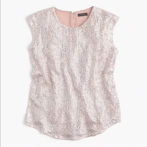 J. Crew Sequin Holiday Party Top